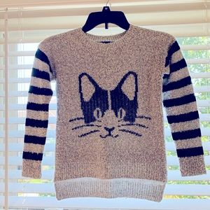POOF COUTURE Girls Black/Grey Cute Sweater Size 8